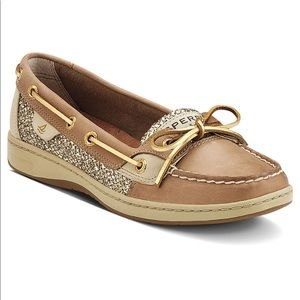 Sperry Topsider Angelfish Linen and Gold